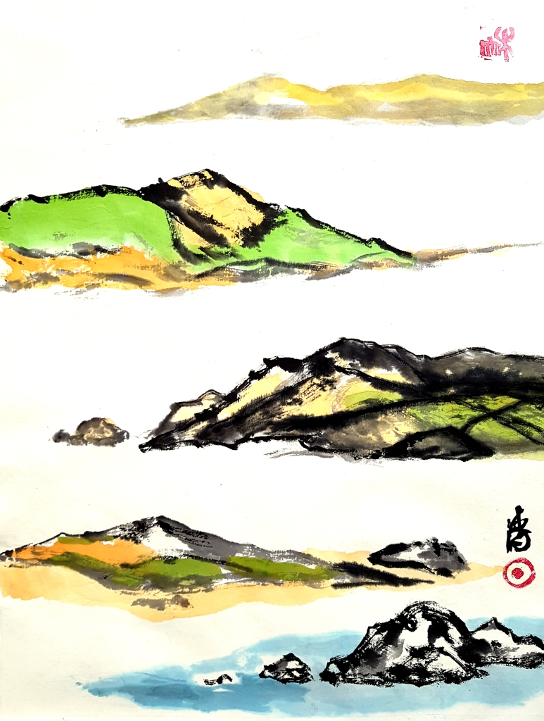 Zenpainting Bob Schneider Chines ink painting Calligraphy Kalligraphie Tuschmalerei