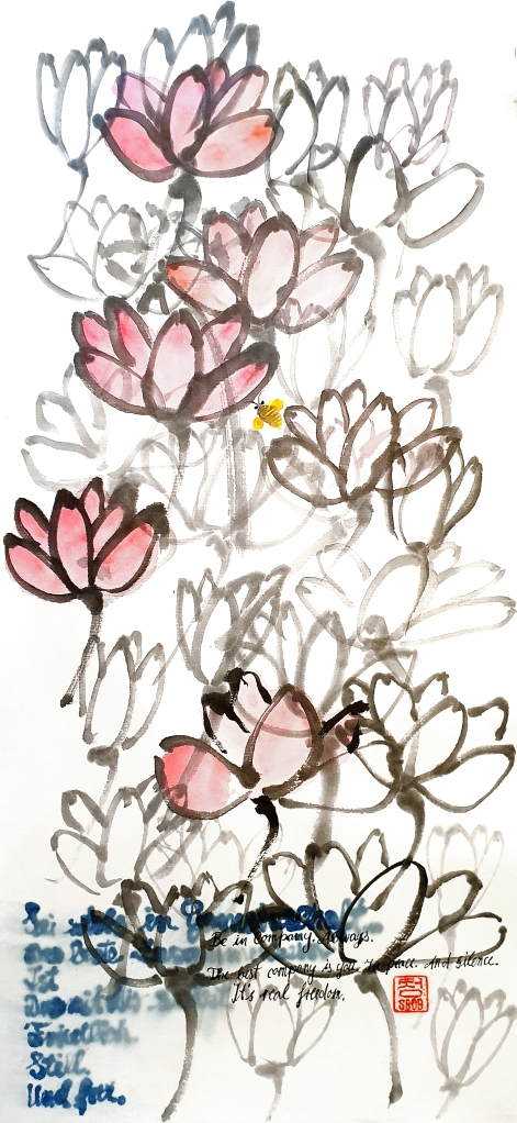 Bob Schneider Berlin Painting Zen Zenpainting Indian ink Brush Painting Chinese painting Zen Asian Art Meditation Achtsamkeit Kunst Calligraphy Kalligraphie