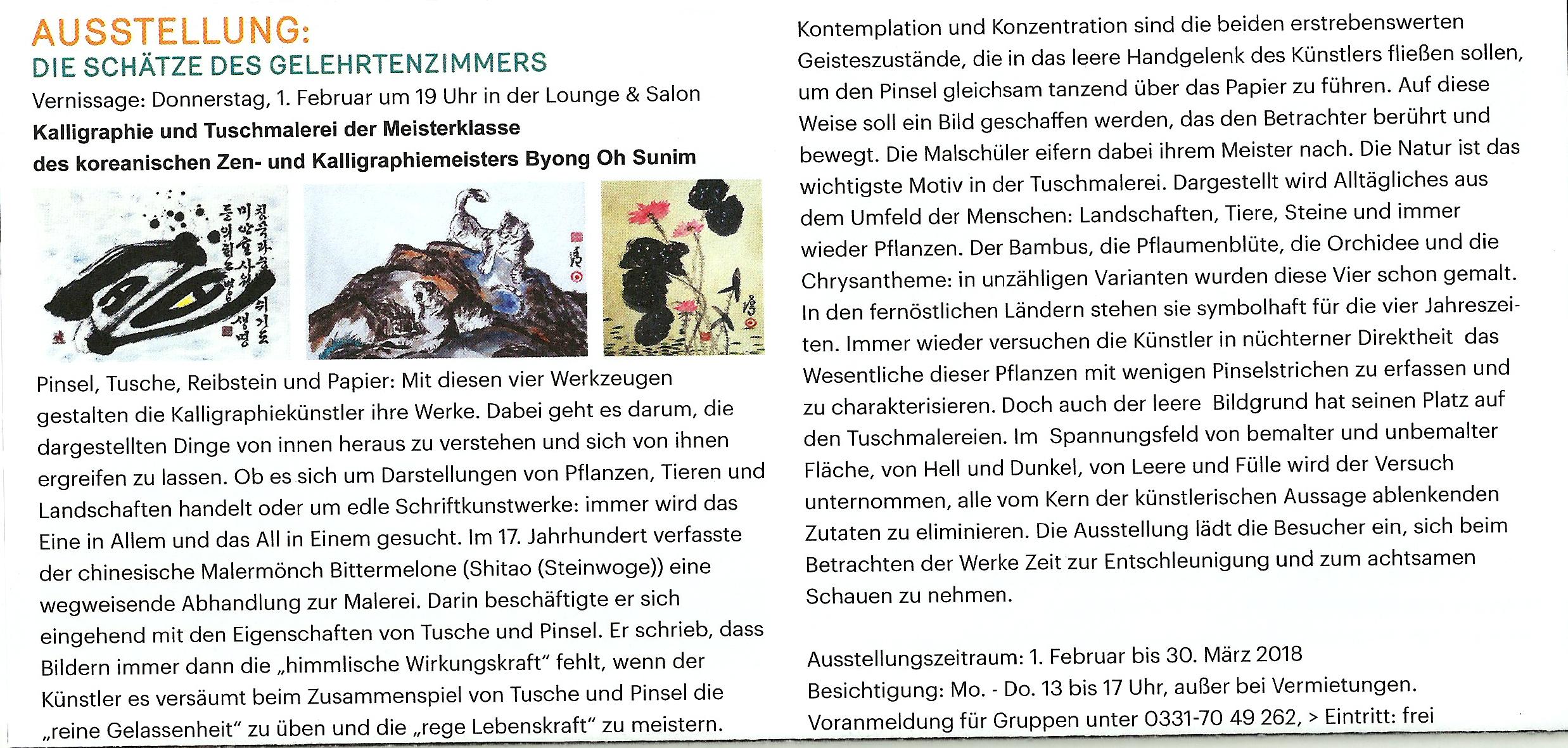 Flyer Austellung Kulturhaus Babelsberg