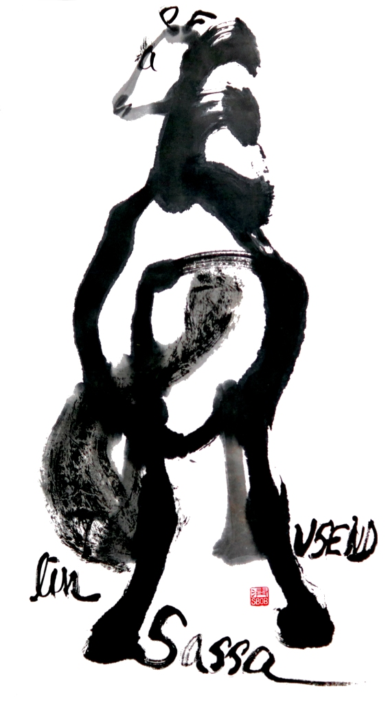 Zenpainting Indian ink Brush Painting Chinese painting Zen Asian Art Meditation Achtsamkeit Kunst Schwarz Weiß Black and White Calligraphy Kalligraphie